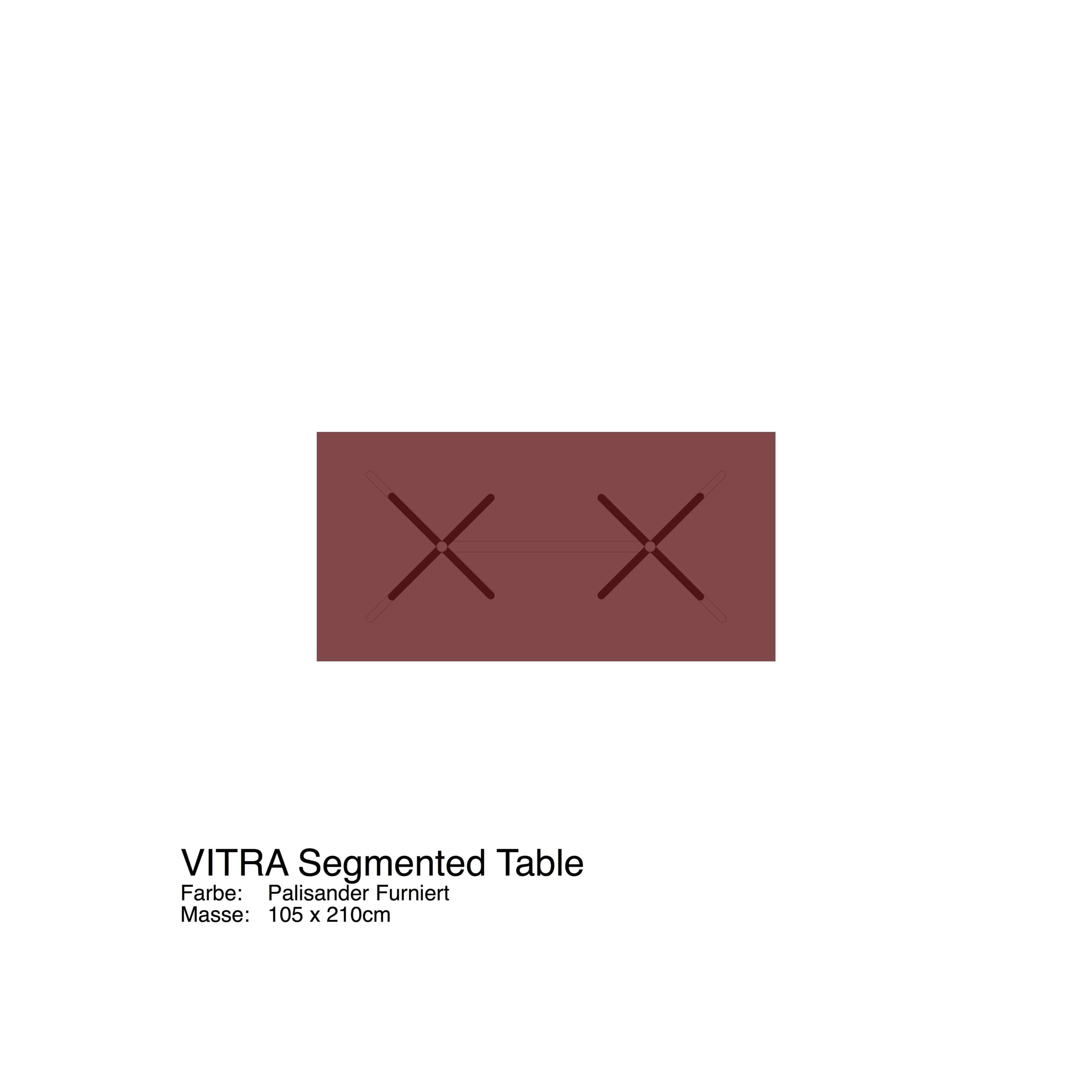 VITRA Segmented Table 105 x 210cm