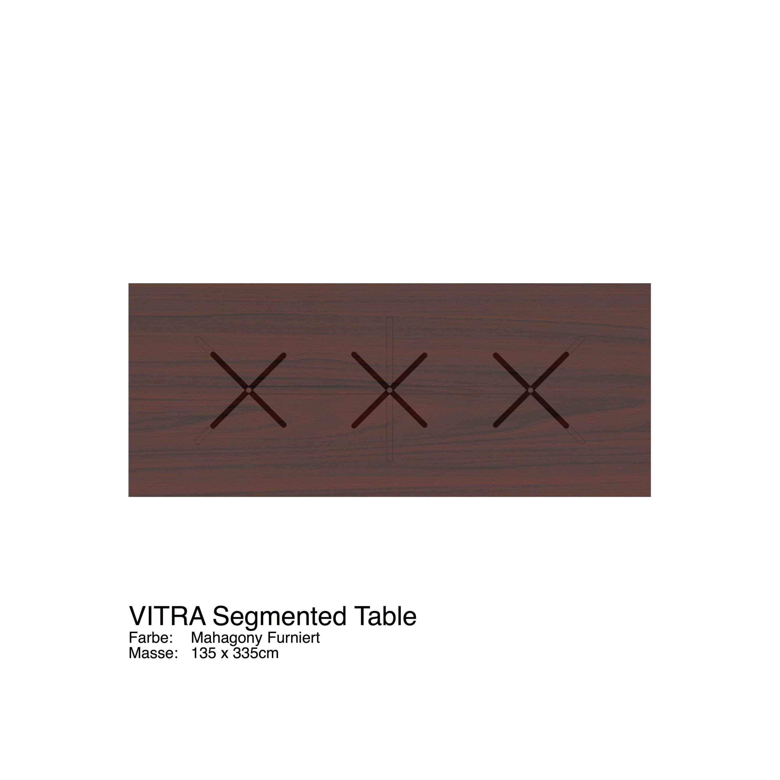 VITRA Segmented Table 135 x 335cm